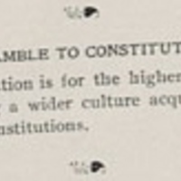 Debate Society, Constitution preamble